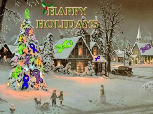 Happy Holidays support tree